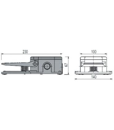 Pédale électronique 2301 pour façonneuse pizza IGF dimensions