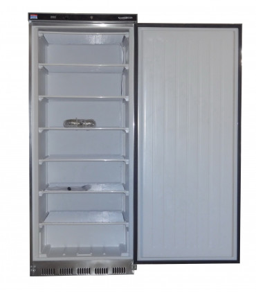 Congélateur vertical 555L inox ext. blanc int. 6 grilles fixes 640x500 mm - HF600S/S 7450.0575
