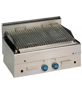 GPL86 MBM Grill charcoal gaz pierres volcanique grille inox viande surface utile 75x46
