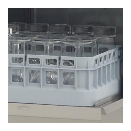 "Lave-verres panier 40x40 LB406. Capacité environ 25 verres par cycle de 120"""