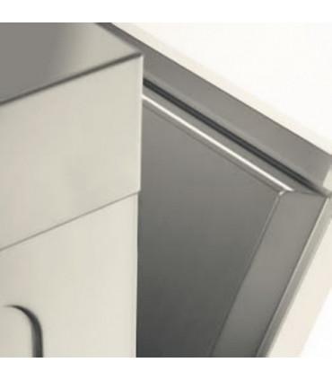 Porte à double paroi pour limiter les pertes de chaleur et le bruit. Lave-verres panier 40x40 LB406 MBM