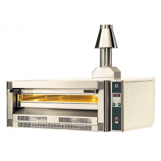 Four pizza gaz CUPPONE superposable contrôle digital 4 pizzas Ø 33 cm 14kW - Cheminée en option - GS4-33