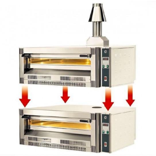 Four pizza gaz CUPPONE superposable : possibilité de superposer 2 modules GS/33 identiques