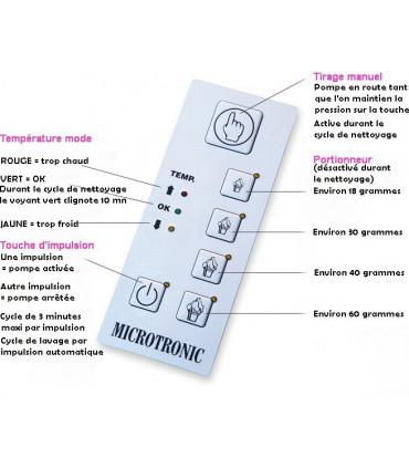 MICROTRONIC panneau de commandes machine à Chantilly 2 L PONY Minitronic Mussana