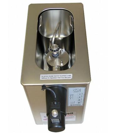 Machine à Chantilly 2 L PONY Minitronic Mussana vue de la cuve intérieure