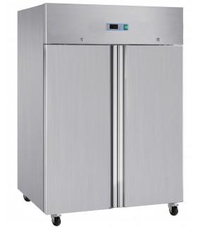 Armoire froide négative de congélation GN 2/1 sur roulettes grande capacité - 2 portes inox 1410 L - L2G GN1410BT L2G