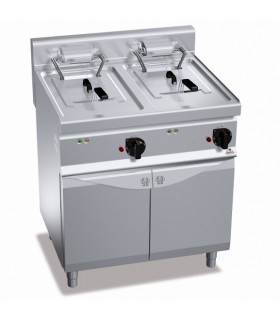 Friteuse électrique 2x10L (18kW - 20L) sur coffre - Berto's Turbo-High Power E7F10-8MS