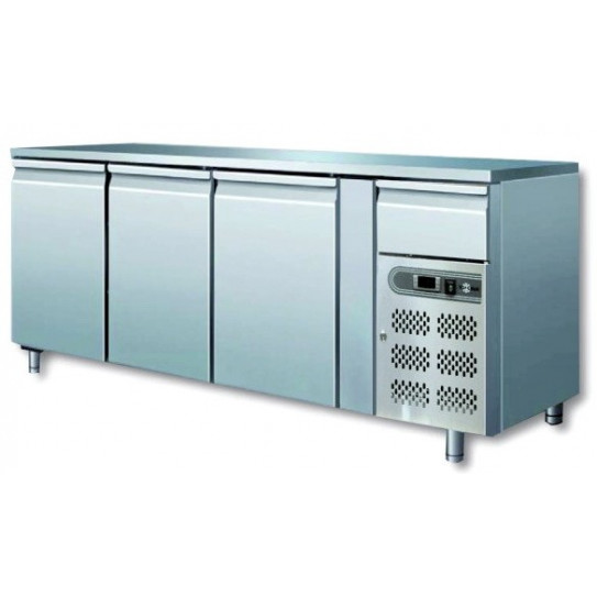 Tour réfrigéré ventilé inox 3 portes + 1 tiroir neutre 1795x700x850 GN1/1