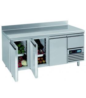 Tour réfrigéré ventilé inox 3 portes + 1 tiroir neutre 1755x700x850 GN1/1 - Topcold L2/3