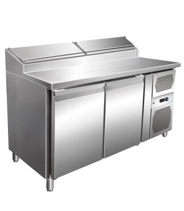 Table préparation sandwich 1360x700mm 2 portes 6 emplacements GN1/3 - SH2000/700