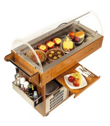 Buffet réfrigérée + option bac inox 70x33x7(h)cm - CARRELINO SCAIOLA