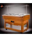 Self buffet chaud +30 +90°C en bois SCAIOLA