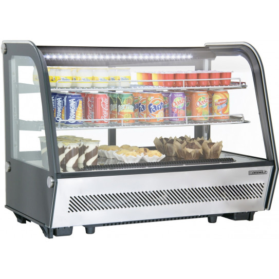 Vitrine réfrigérée ventilée à poser 160 L froid positif - CVR160L Casselin 700203G