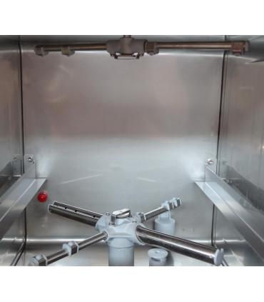 Lave-verres P-35 vue interne diffuseur inox bas et haut rincage - Sammic P-35