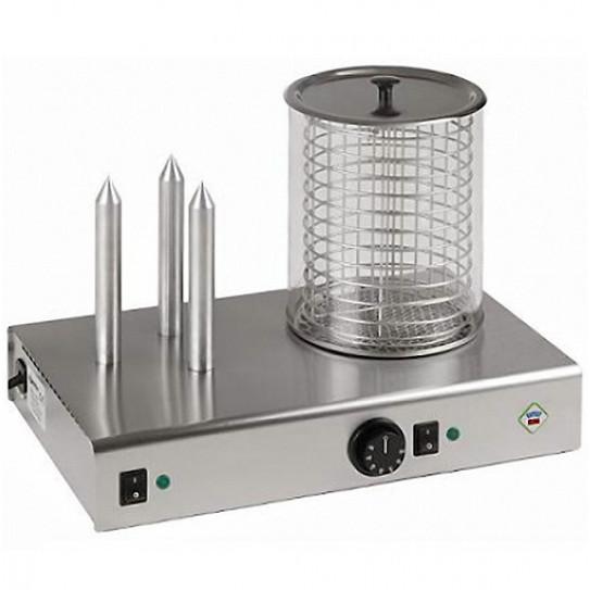 Appareil Hot-Dog 3 plots 1,1 kW - HD-03 NK RM GASTRO REDFOX