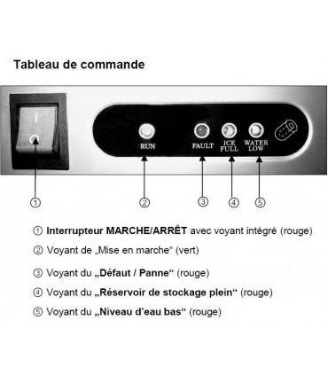 Détail tableau de commande machine à glaçons pro 35 kg/24h - 104040 Bartscher C40